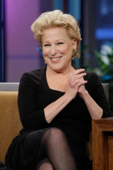 THE TONIGHT SHOW WITH JAY LENO -- Episode 4573 -- Pictured: Bette Midler during an interview on November 25, 2013 -- (Photo by: Margaret Norton/NBC/NBCU Photo Bank via Getty Images)