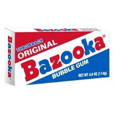 bazooka bubble gum. the hardest gum on the planet.