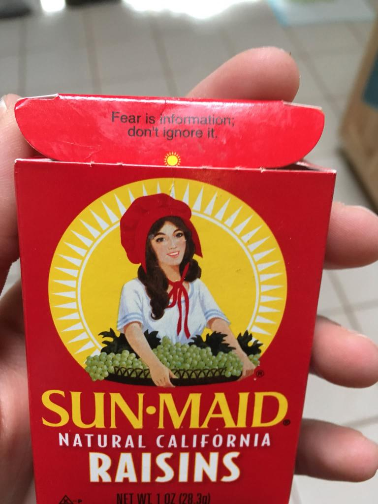 Sun Maid raisins for Halloween candy